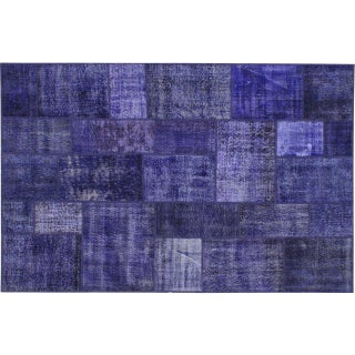 Stark Studio Rugs Traditional Oriental Turkish Patchwork Wool Rug - 6′4″ × 9′10″ For Sale