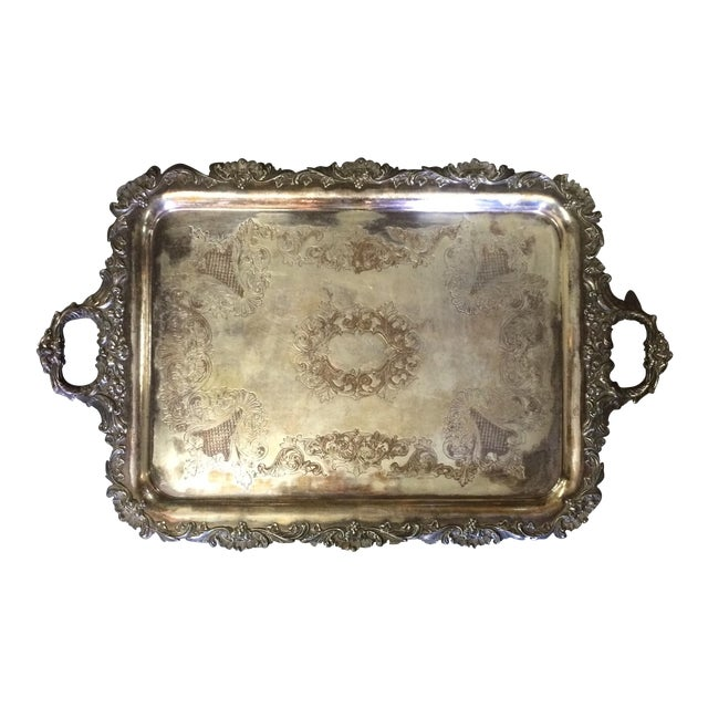 Silver Plate Tray - Image 1 of 7