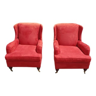 Antique Red Chairs- a Pair For Sale