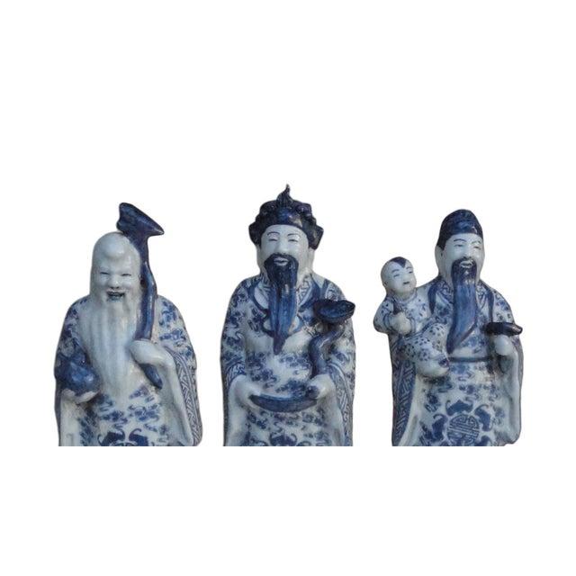 Chinese Handmade Blue & White Porcelain - Set of 3 - Image 6 of 7