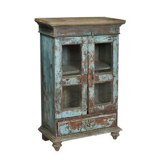 Antique India Painted Cabinet For Sale