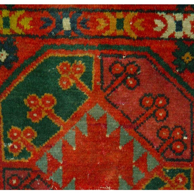 "Old Uzbek Small Pile Rug Napramash #7 - 17""x 42"" - Image 3 of 4"