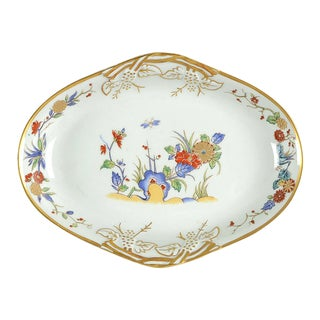 Mottahedeh Rock Garden Oval Tray For Sale