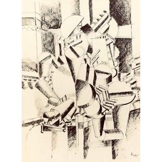 1988 Fernand Leger Bichromie Print N4-1 Noise For Sale