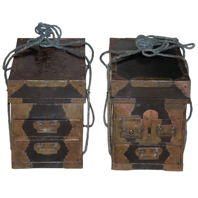 19th Century Japanese Medicine Boxes - a Pair For Sale