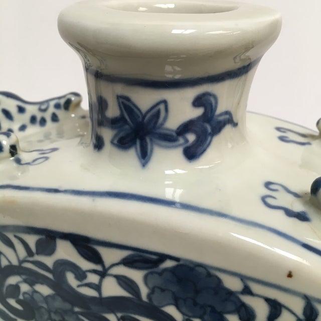 Blue Chinese Dragon Flat-Front Vase - Image 10 of 11