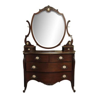 R.J. Horner & Co. Queen Anne Mahogany Vanity Dresser For Sale