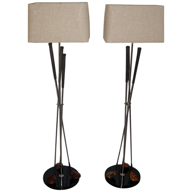 Metal Golf Club Floor Lamps With Power Bilt, Pouette & Stan Thompson Clubs - a Pair For Sale - Image 7 of 7