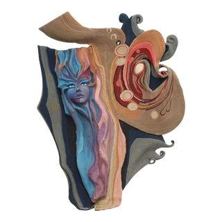 Rare Claude Prevost Tapestry Sculpture For Sale