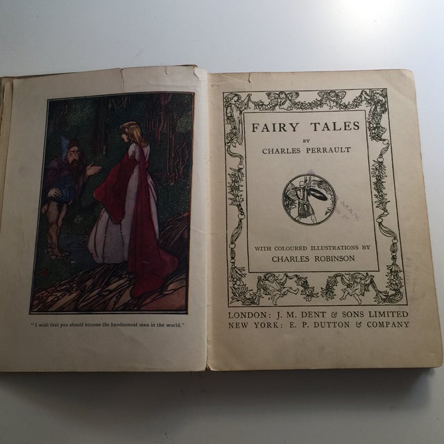 Perrault's Fairy Tales Book, C. 1913 For Sale - Image 4 of 10