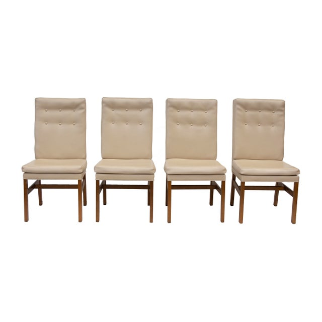 Boho Chic Johnson Furniture Tufted Dining Chairs - Set of 4 For Sale - Image 3 of 12