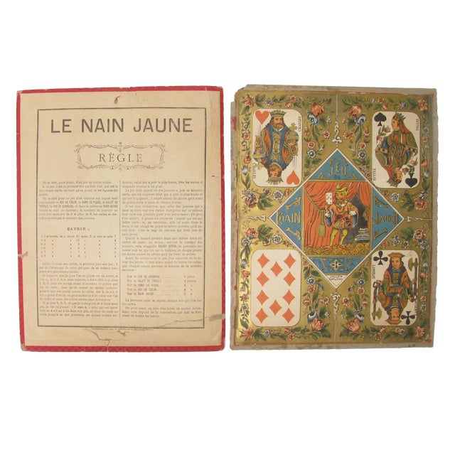 Vintage French Game Board & Rules Sheet - A Pair For Sale