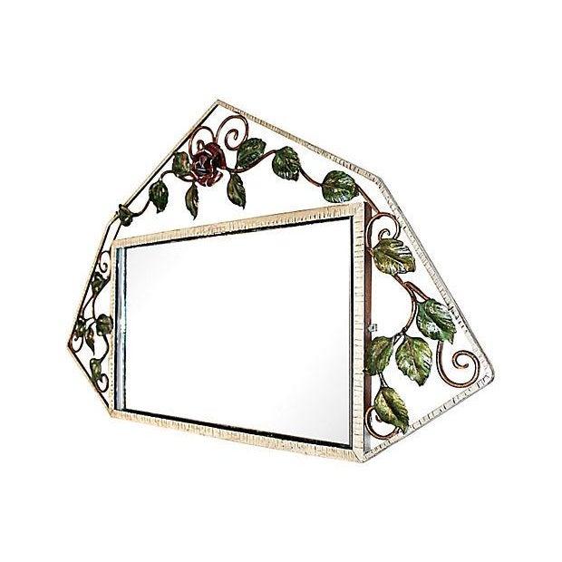 French Iron Art-Deco Mirror - Image 2 of 3