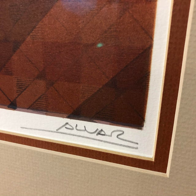 Late 20th Century Original Sunol Alvar Embossed Artist Proof Signed Lithograph Framed With Museum Glass For Sale - Image 5 of 12