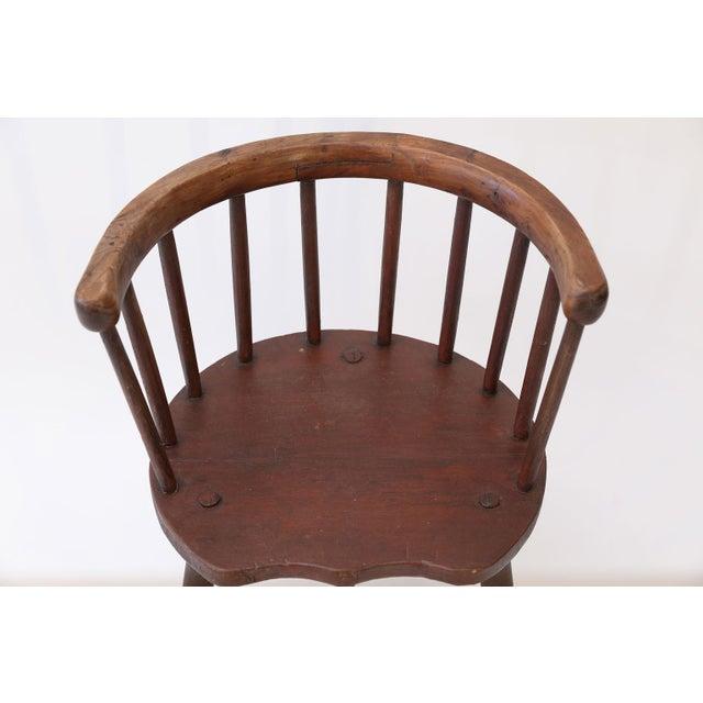 Scottish Horseshoe Back Chair For Sale - Image 9 of 12