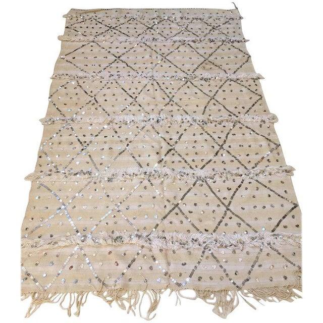 Moroccan Wedding Berber Blanket For Sale - Image 10 of 10