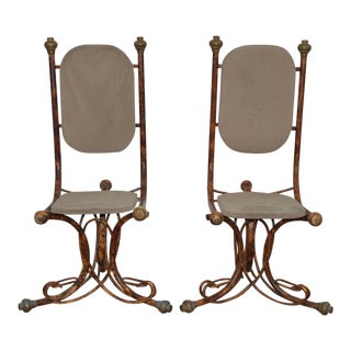 C.1970s Arthur Court Sculptural Side Chairs - A Pair