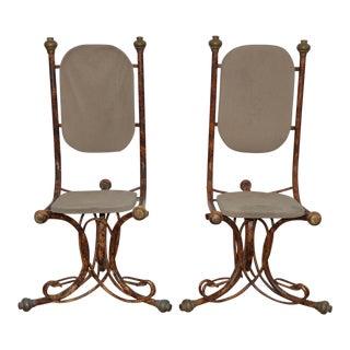 C.1970s Arthur Court Sculptural Side Chairs - A Pair