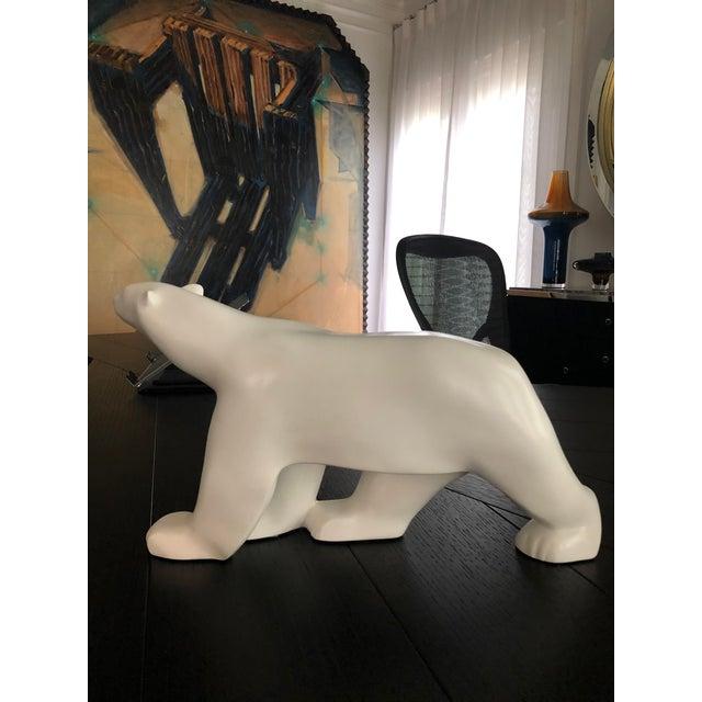 Ceramic Vintage Christopher Guy Polar Bear For Sale - Image 7 of 11