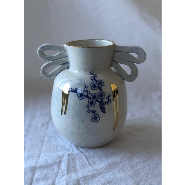 Contemporary Ceramic Chinoiserie Vase For Sale In New York - Image 6 of 6