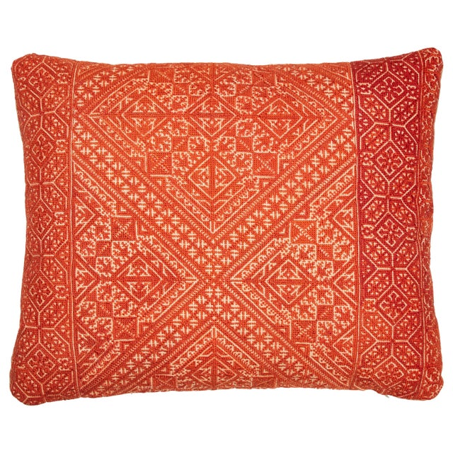 Moroccan Fez Embroidery Pillow For Sale In Los Angeles - Image 6 of 6