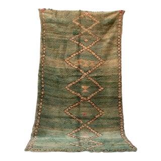 "Boujad Vintage Moroccan Rug, 5'10"" X 10'9"" Feet For Sale"