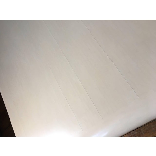 White Monumental Karl Springer Style Bullnose Coffee Table, Tessellated Stone For Sale - Image 8 of 12