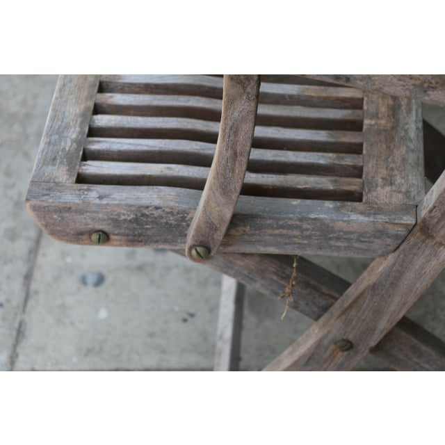 1980s Vintage Set of Teak Outdoor Patio Chairs For Sale - Image 5 of 13