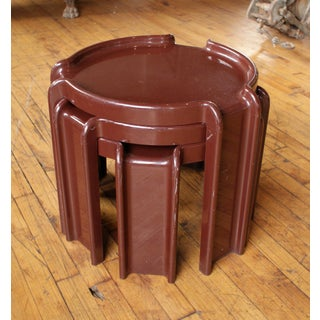 Giotto Stoppino for Kartell Chocolate Brown Nesting Tables - Set of 3 Preview