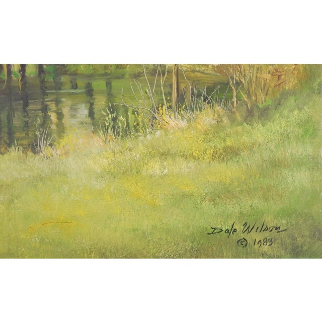American Secluded Homestead Oil Painting For Sale - Image 3 of 4