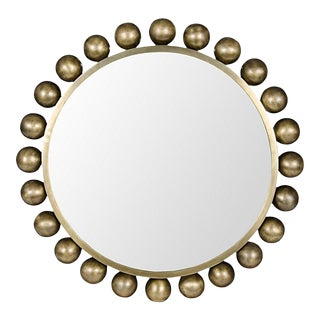 Cooper Mirror in Antique Brass by Noir For Sale