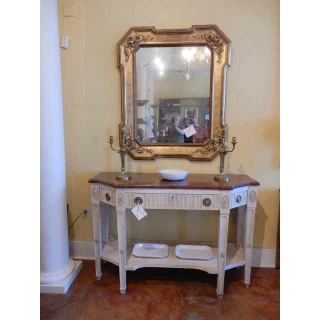Early 19th C Painted Directoire' Console For Sale - Image 9 of 10