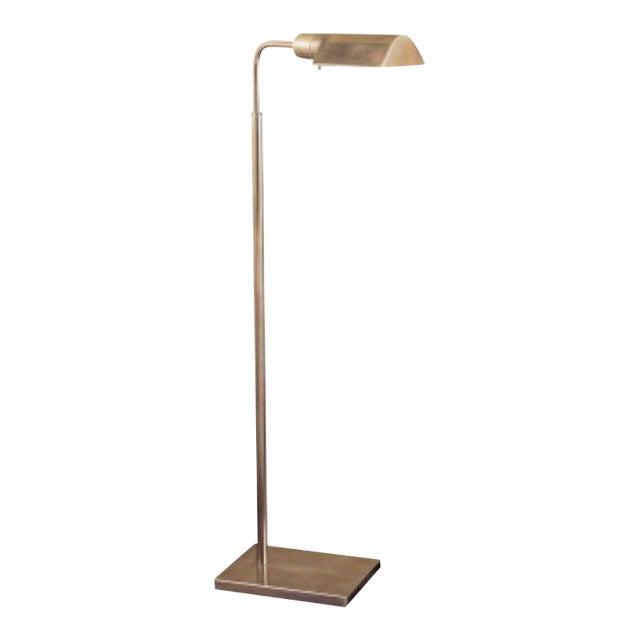 Visual Comfort Antique Brass Reading Floor Lamp - Image 1 of 3