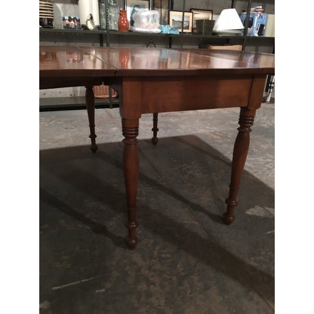 Antique Sheraton Walnut Pembroke Table For Sale - Image 9 of 11