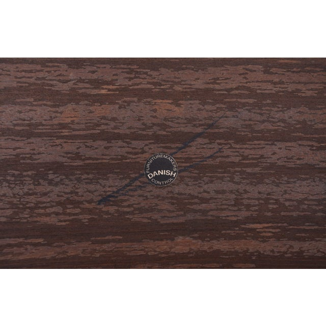 Brown Vintage Rosewood Side Table by Severin Hansen, 1960s For Sale - Image 8 of 9