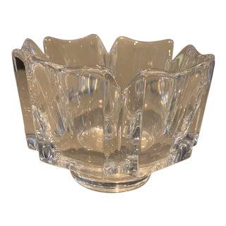 Orrefors Crystal Floral Bowl For Sale