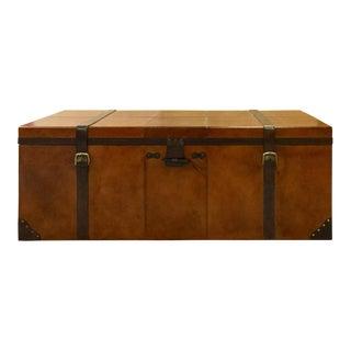 Decorative Leather Storage Trunk