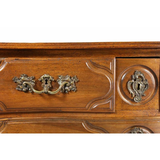 French Provincial Regence Provincial Walnut Commode For Sale - Image 3 of 9