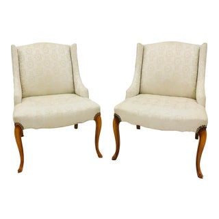 Pair Vintage French Style Side Chairs For Sale