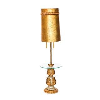 Vintage Nardini Studios Hollywood Regency Gilt Floor/Table Lamp For Sale