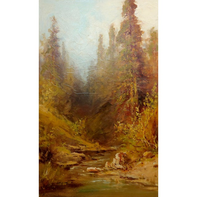 """Contemporary Frederick Ferdinand Schafer """"California Wooded River Landscape"""" Oil Painting, 19th Century For Sale - Image 3 of 9"""