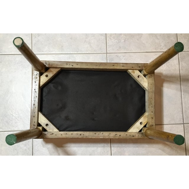 Vintage Upholstered American Sitting Stool For Sale In Miami - Image 6 of 13