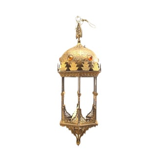 Middle Eastern Moorish Style Six-Sided Lantern For Sale