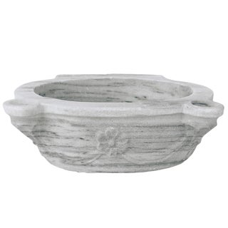 Antique Marble Hamam Sink With Floral Motif For Sale