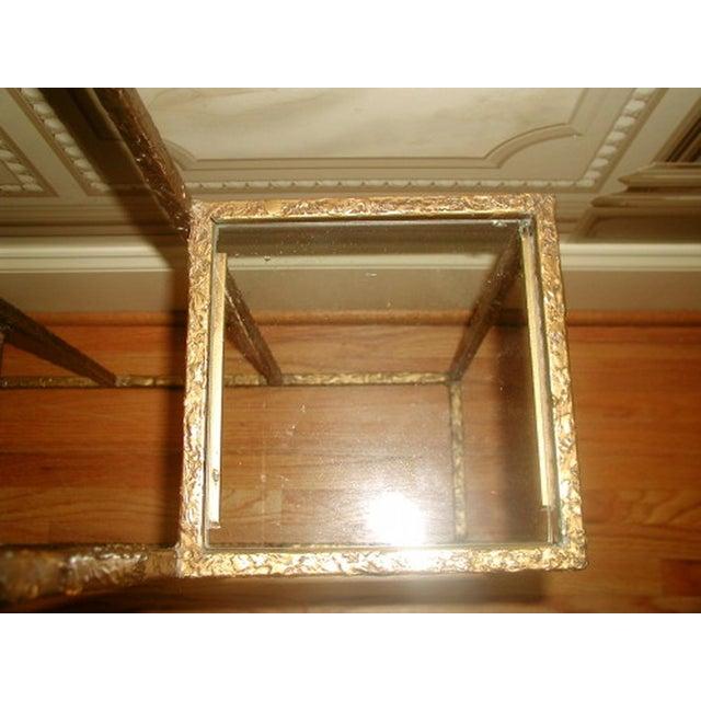 Gilt Metal & Glass 3 Tier Shelf Table - Image 7 of 9