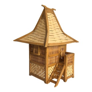 Balinese Wicker Hut Lamp For Sale