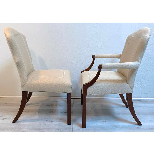 Squires Co. Custom Dining Chairs With Handles-Set of 8 For Sale - Image 4 of 10