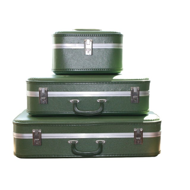 Vintage 3-Piece Nesting Suitcases - Image 1 of 11