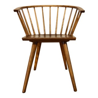 Mid-Century Maple Spindle Chair by Russel Wright for Conant Ball For Sale