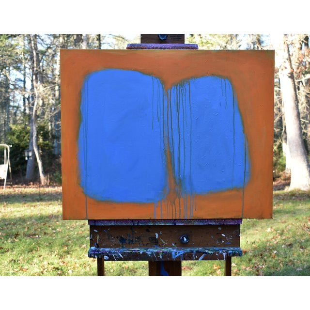 """Abstract Stephen Remick """"Comfort"""" Abstract Painting For Sale - Image 3 of 13"""